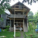 progress on two story south porch